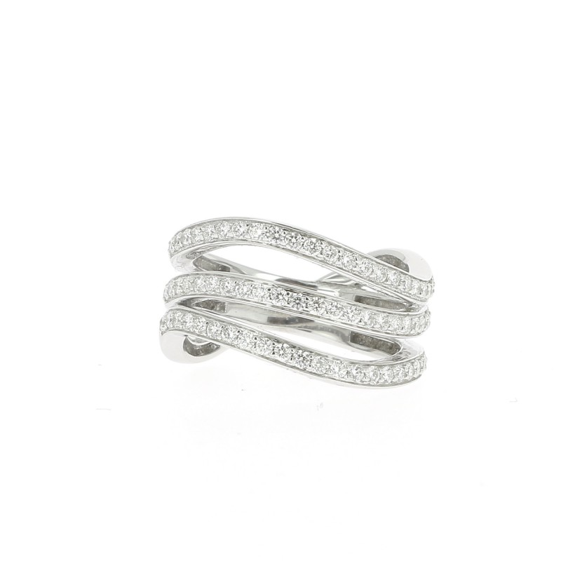BAGUE VAGUE DE DIAMANTS
