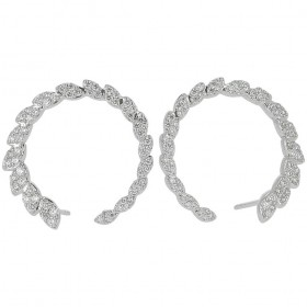BOUCLE D OREILLE LAURIERS DE DIAMANTS