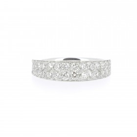 BAGUE BANDEAU BRILLANT
