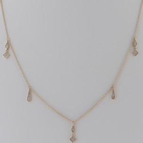 COLLIER PAMPILLES GOUTTES ET DIAMANTS
