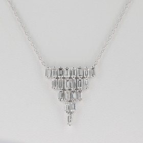 COLLIER PYRAMIDE DIAMANTS