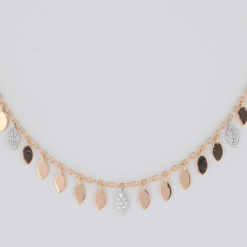 CHOKER LEAVES AND DIAMONDS