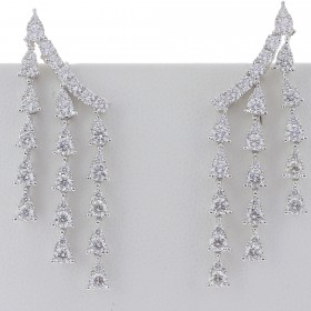 BOUCLES D OREILLES TOMBEE DE DIAMANTS